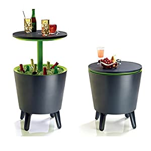 bistrotisch 2in1 coolbar bar tisch rund stehtisch gartentisch coktailtisch k hlbox beistelltisch. Black Bedroom Furniture Sets. Home Design Ideas