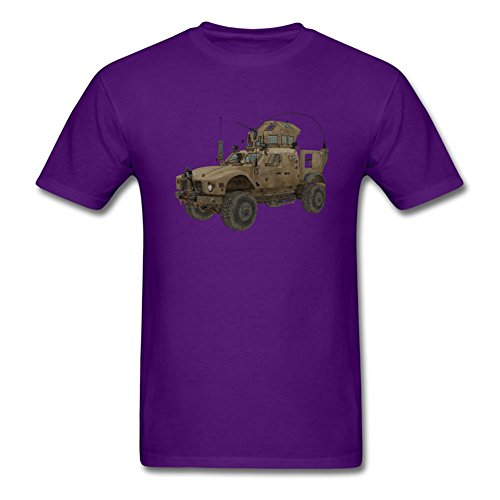 Patrickohen Popular Fashion Design Combat Stryker For Men's T-Shirt Purple Xx-large