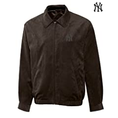 New York Yankees Mens Micro Suede City Bomber Jacket by Cutter & Buck