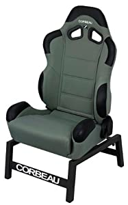 CR1 Reclining Gaming Seat in Gray Cloth