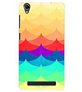 PRINTVISA Abstract Colourful Pattern Case Cover for Intex Aqua Power Plus