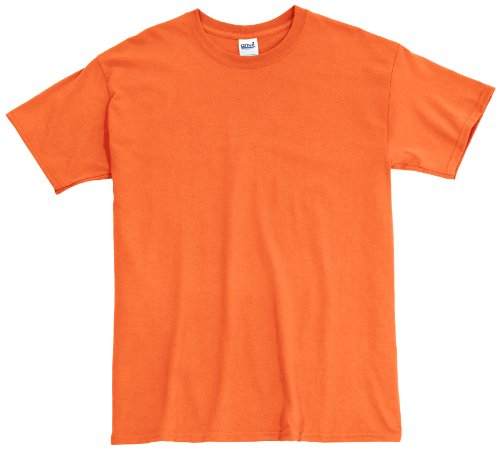 Anvil - Camiseta regular fit con cuello redondo de manga corta para hombre