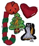 Yeowww! 100% Organic Catnip Toy Holiday Assortment Pack 1 (Pumpkin, Ghost, Candy Cane, Christmas Tree, Heart)