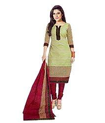 Miraan Women's Cotton Salwar Suit Dress Material(SG3333_Green)