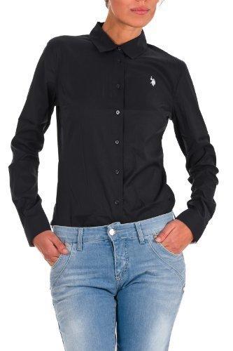 US Polo ASSN USA Polo BODY a maniche lunghe T-shirt maglia a maniche lunghe Logo USPA long Shirt Amelie Nero M