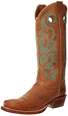 "Justin Boots Men's U.S.A. Bent Rail Collection 15"" Boot Narrow Square Top Ridge Toe Leather Outsole,Arizona Tan,9 D US"