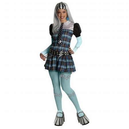 Rubies Costumes Monster High Deluxe Frankie Stein Adult Costume Small