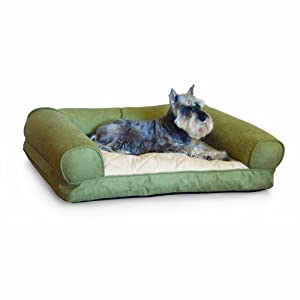 K&H Lazy Small Sofa Sleeper, Green, 25-Inch by 19-Inch