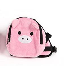 Cartoon Pet School bag Pet package Dog Teddy Out Backpack Shoulder bags Dog Backpack pig M