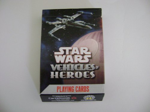 Star Wars Heroes Vehicles Playing Cards