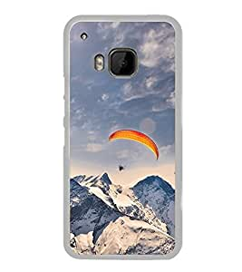 Paragliding in Mountains 2D Hard Polycarbonate Designer Back Case Cover for HTC One M9 :: HTC One M9S :: HTC M9 :: HTC One Hima