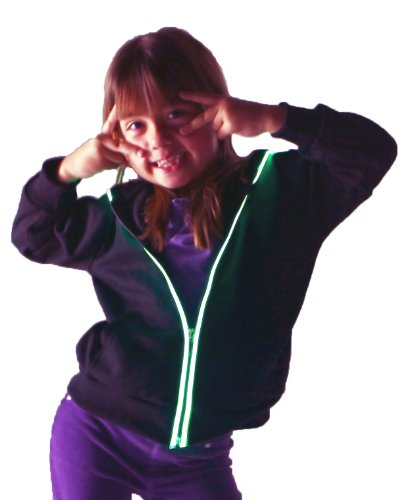 Light Up Hoodies By Electric Styles (11-12 Year Old, Green)