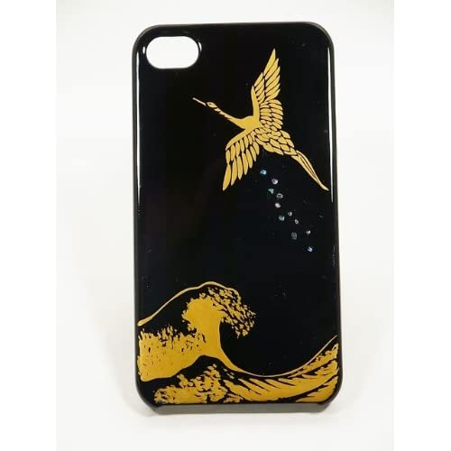 Amazon.com: Maki-e iPhone 4/4S Cover Case Made in Japan - Tsuru to Nami (Crane with Waves): Cell Phones & Accessories from amazon.com