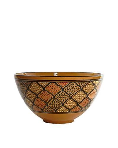 Le Souk Ceramique Honey Deep Salad Bowl, Honey/Brown
