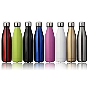 KING DO WAY 17oz Double Wall Vacuum Insulated Stainless Steel Water Bottle Perfect for Outdoor Sports Camping Hiking Cycling, with a Cleaning Brush for Free Gift