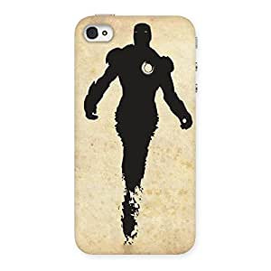 Gorgeous Black Genius Multicolor Back Case Cover for iPhone 4 4s