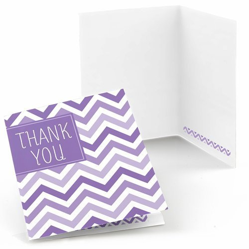 Chevron Purple Thank You Cards (8 count)