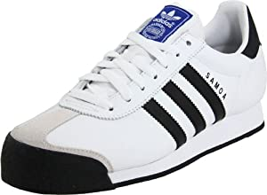 adidas Originals Men's Samoa Lea Sneaker,Running White/Black,9 M