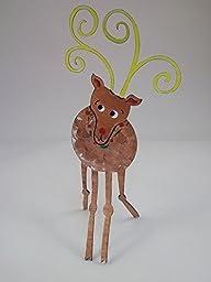 Reindeer Handpainted Steel Sculpture