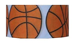 Grosgrain Ribbon Sports 7/8 Inch 2 yards Basketball