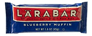 LARABAR Fruit & Nut Food Bar, Blueberry Muffin, Gluten Free, 1.6 oz. Bars,  (Pack of 16)