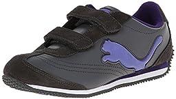 PUMA Speeder Illuminescent Kids Sneaker (Infant/Toddler/Little Kid), Dark Shadow/Blue Iris/Parachute Purple, 9 M US Toddler