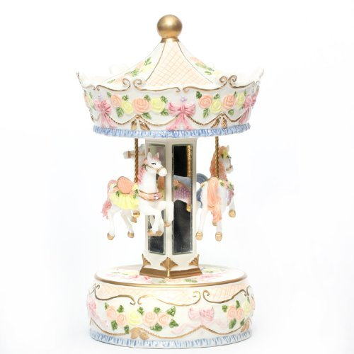 Laxxury Musical Carousel With Chramatic Lamp In Porcelain Material