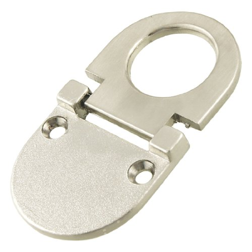 Uxcell a12032200ux0457 Metal Cupboard Drawer Flush Mount Pull Ring Handle Silver Tone