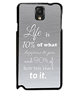 Printvisa 2D Printed Quotes Designer back case cover for Samsung Galaxy NOTE3 N9000/N9002/N9005 - D4545