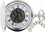 Mens Stainless Pocket Watch by Bariloche Pocket Watches 65540CP-W2