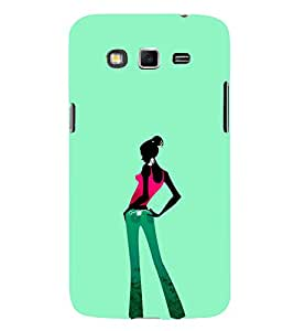 iFasho Girl standing in fashion Back Case Cover for Samsung Galaxy Grand Neo Plus