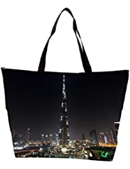 Snoogg Tallest Building In The World Designer Waterproof Bag Made Of High Strength Nylon
