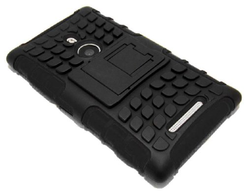 Cell-Nerds Nerdshield Armor Case Cover With Built-In Kickstand For Nokia Lumia 925 - Cell-Nerds Packaging (Black)
