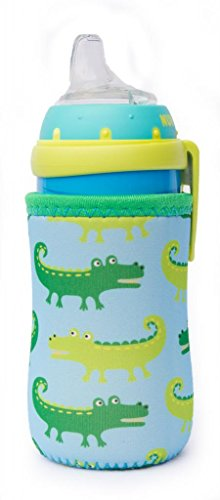 Kidzikoo - #1 Neoprene Baby Bottle/Sippy Cup Insulator Cooler Coozie - Alligators