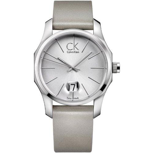 Calvin Klein K7741120 - Reloj analógico de cuarzo para hombre con correa de piel, color plateado