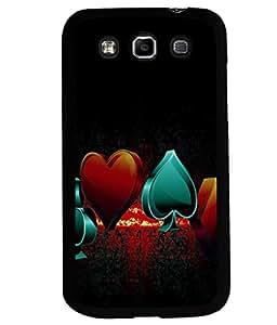 printtech Cards Logo Back Case Cover for Samsung Galaxy Quattro i8552::Samsung Galaxy Quattro Win i8552