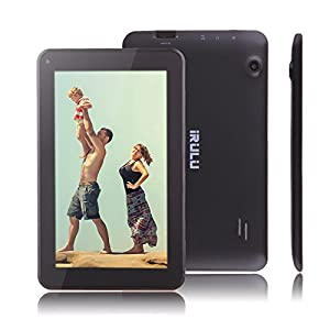 IRULU X1c,7 Inch Android Tablet PC , Google Android 4.2.2 Gingerbread OS , Quad Core,Allwinner A33 Cortex A8 CPU,Dual Cameras,800x480 Resolution,5 Point Capacitive Touch Screen, Netflix,Skype,Angry Bird Games Supported ,8GB Storage (Black)