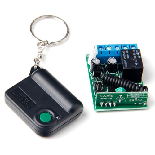 1 Button 433MHZ Wi-fi RF Transfer Relay Far flung Keep an eye on + Receiver Controller for Automotive Motor