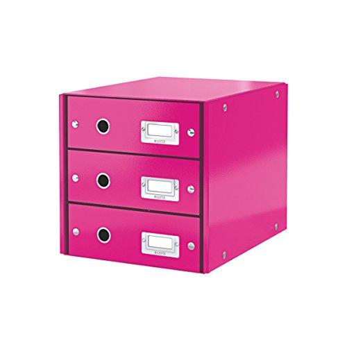 Leitz 60480023 Cassettiera, 3 Cassetti, Fucsia Metallizzato
