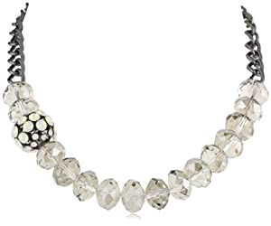 "Kenneth Cole New York ""Modern Opal"" Faceted Bead & Fireball Frontal Necklace"