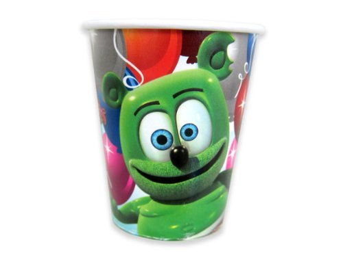 Gummibär The Gummy Bear 9 oz Beverage Cups - 8 CT- Party Supplies (Gummy Bear Birthday compare prices)