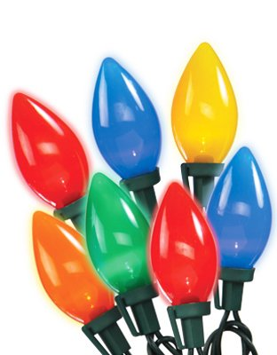 Noma/Inliten-Import 2936-88 Christmas Lights Set, Multi-Color Ceramic Led, 25-Ct. - Quantity 12
