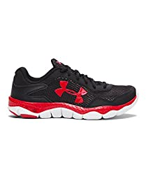 Under Armour Big Boys\' Grade School UA Engage II Running Shoes 5.5 Black