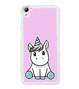 Cute Unicorn 2D Hard Polycarbonate Designer Back Case Cover for HTC Desire 826 Dual Sim