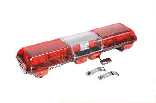 Wolo 7710-R Infinity 3 Red LED Roof Mount Full Bar Warning Light