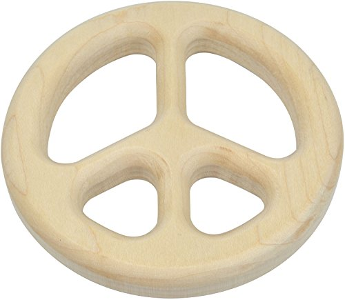 Peace Sign Shaped Maple Teether - Made in USA