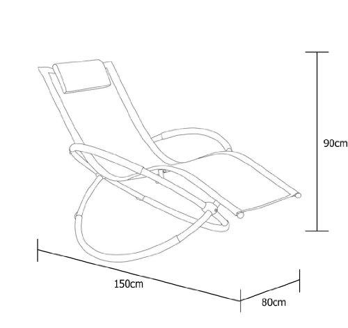 Telaio in alluminio leggero interno esterno sedia a - Cuscino per sedia a dondolo ...