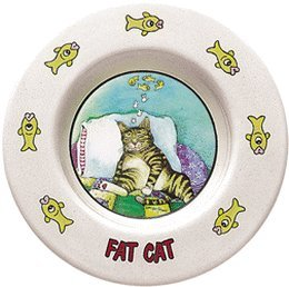 """Gary Patterson'S """"Fat Cat"""" 7 Inch Saucer"""