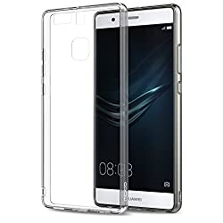 Huawei P9 Case - MoKo Halo Series Back Cover with TPU Cushion Technology Corners + Clear Back Panel Bumper Cover for Huawei P9 5.2 Inch Smartphone 2016 Release, Crystal CLEAR from MoKo