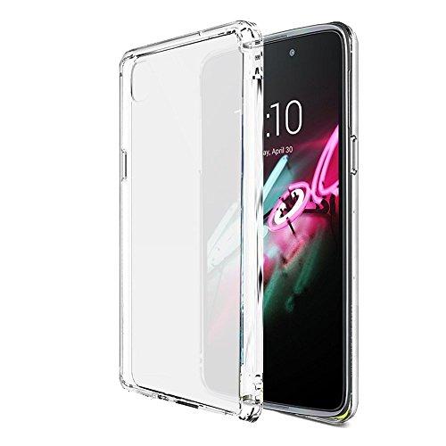 Trasparente Clear Custodia TPU per Alcatel Onetouch Idol 3 4.7 pollici 4G/LTE 8Gb/16Gb smartphone - Funda Protective Cover protettiva Alcatel Idol 3 4.7 (Transparent) - XEPTIO accessori